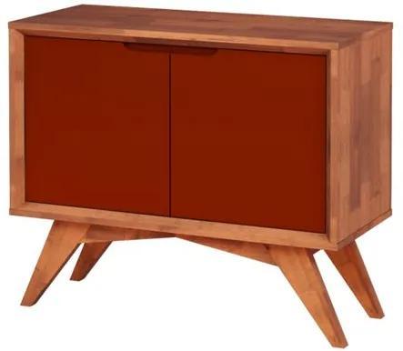 Buffet Uriel 2 Portas Natural e Marrom - Wood Prime MP 27563