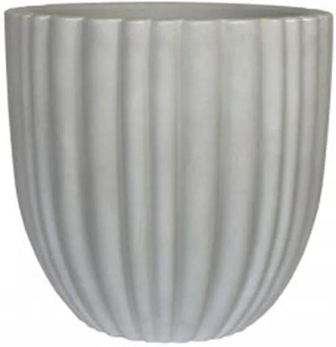Vaso Polietileno Estilo Vietnamita Cacau D55cm x A55cm Antique Branco