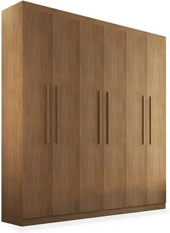 Armário Egeo 06 portas de abrir - 1,80, Padrao - Imbuia / Imbuia / Imbuia