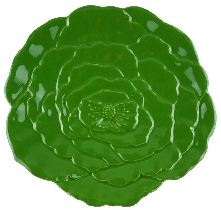 Jogo Prato Sobremesa 6 Peças Porcelana Rosy Verde 19cm 27759 Wolff