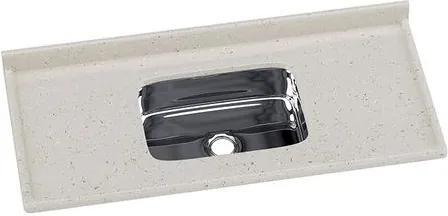 Pia de Granito Sintético 120x55cm Travertino com Cuba Inox - 5622 - Rorato - Rorato