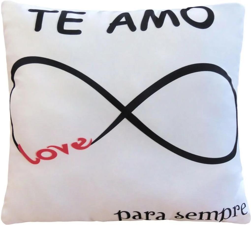 Capa De Almofada Love Infinito com Refil