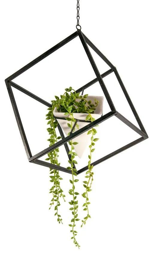 Vaso pendente geométrico