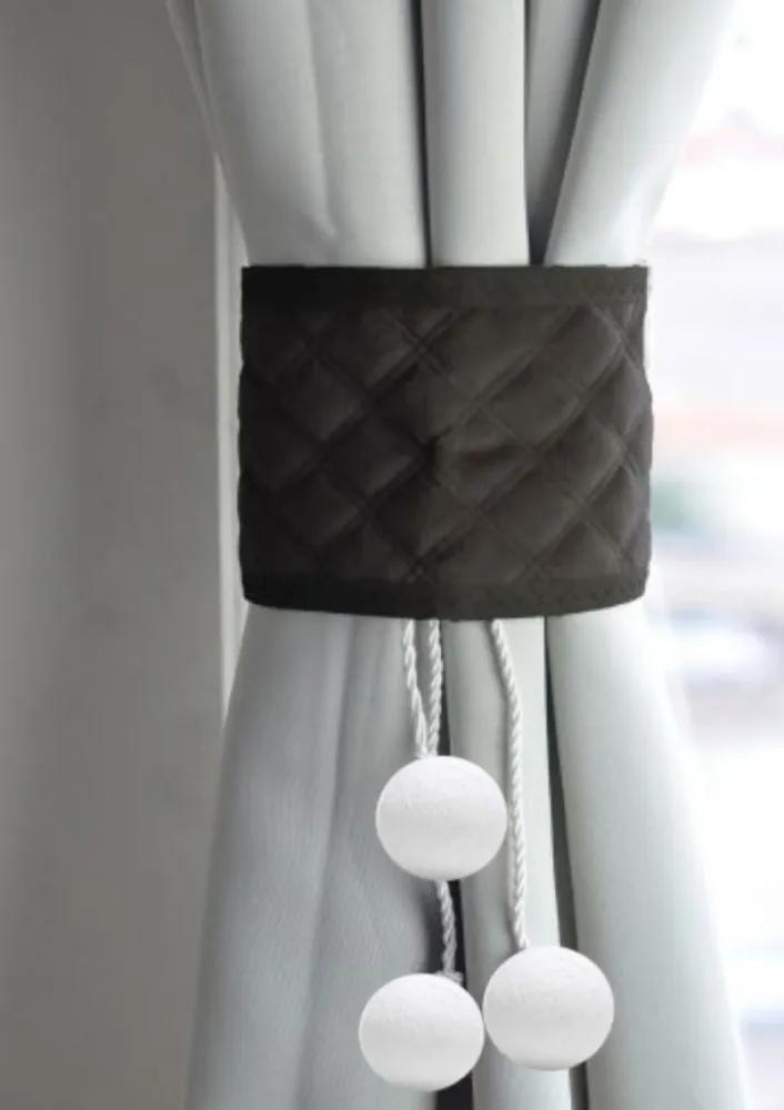 Prendedor de cortina preto Neve