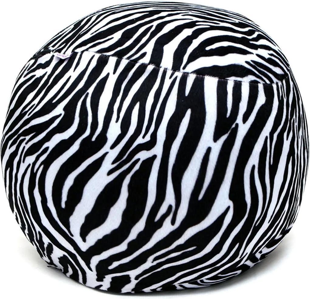 Puff Organizador Infantil para Bichos de Pelúcia Zebra