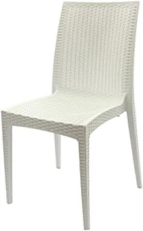 Cadeira Rattan Polipropileno Branco - 18919 Sun House