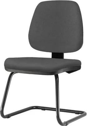 Cadeira Job Assento Crepe Cinza Escuro Base Fixa Preta - 54563 Sun House