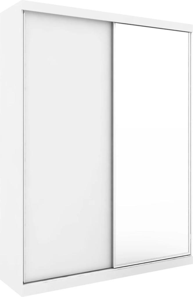 Guarda-Roupa Virtual 1,76 com 2 Portas Correr Com Espelho Branco Robel