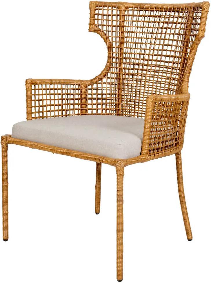 Cadeira Seul de Rattan Com Braço