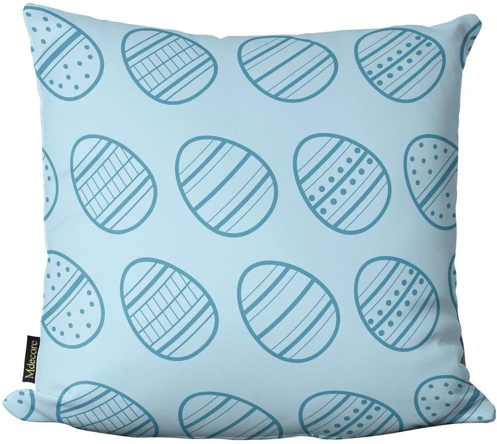 Capa para Almofada de Páscoa Ovos Azul 45x4545x45cm