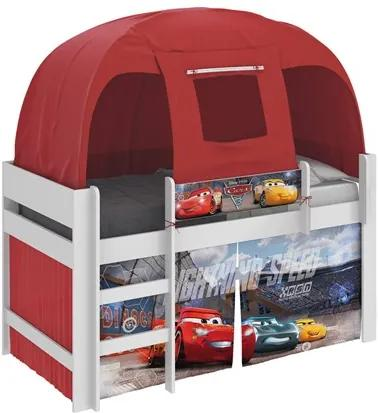 Cama Infantil Carros Disney com Barraca Branco/Vermelho - Pura Magia