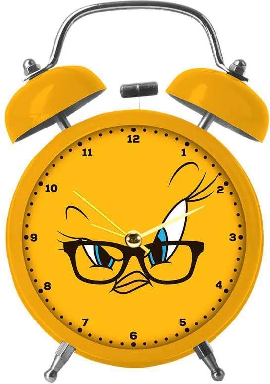 Relógio Despertador Looney Tunes Tweety Big Face em Metal - Urban