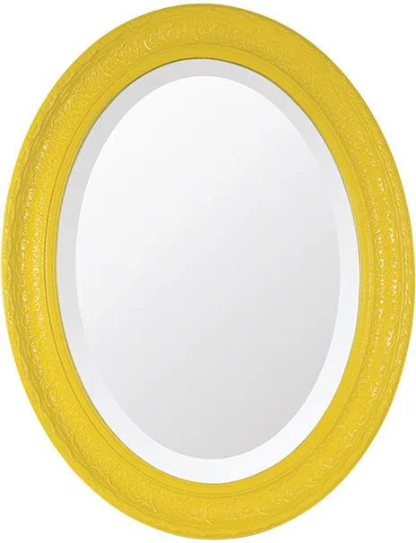Espelho Oval Bisotê Amarelo Happy Grande
