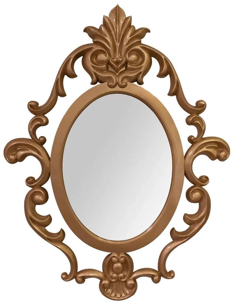 Espelho Oval Lavanda Arabesco - Dourado Soléil  Kleiner Schein