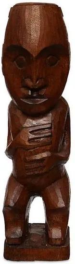 Escultura Tiki em Madeira - Bali