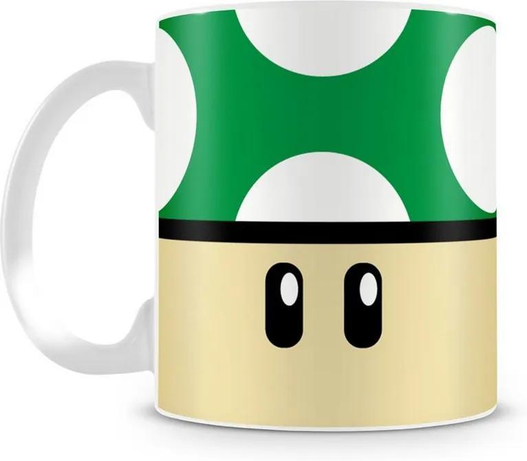 Caneca Personalizada Cogumelo Verde 1Up