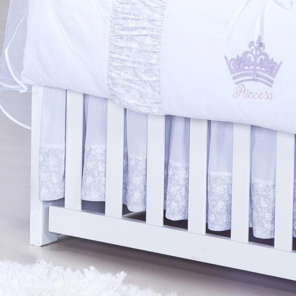 Saia Para Berço Padroeira Baby Princesinha - Lilás