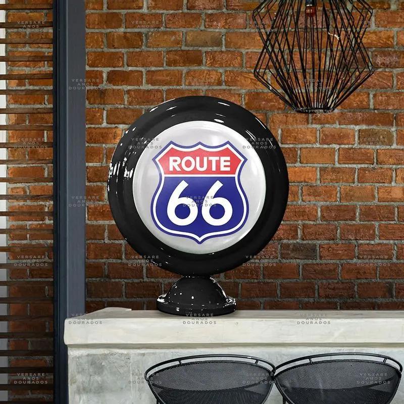 Luminária De Mesa Route 66