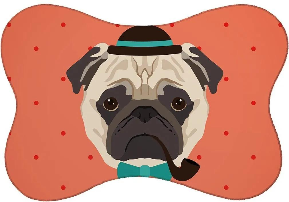 Tapete PET Mdecore Pug Vermelho46x33cm
