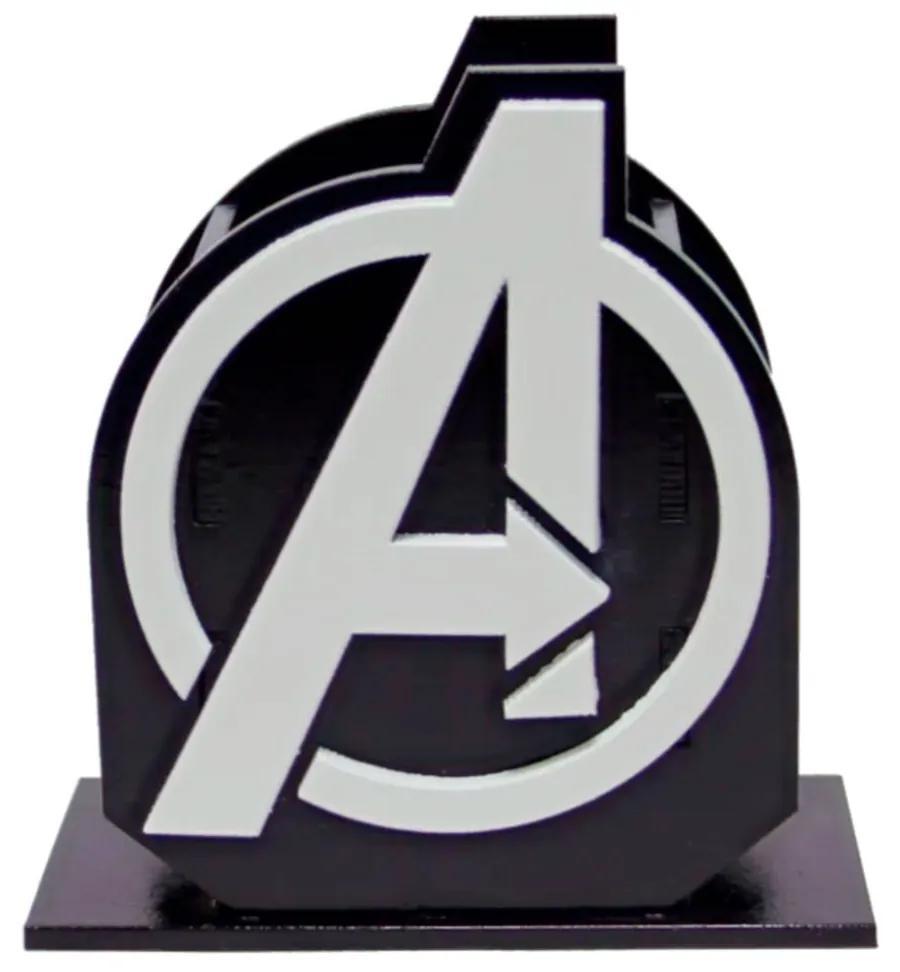 Porta Lápis Caneta E Acessórios Geek Avengers Vingadores 10x10cm