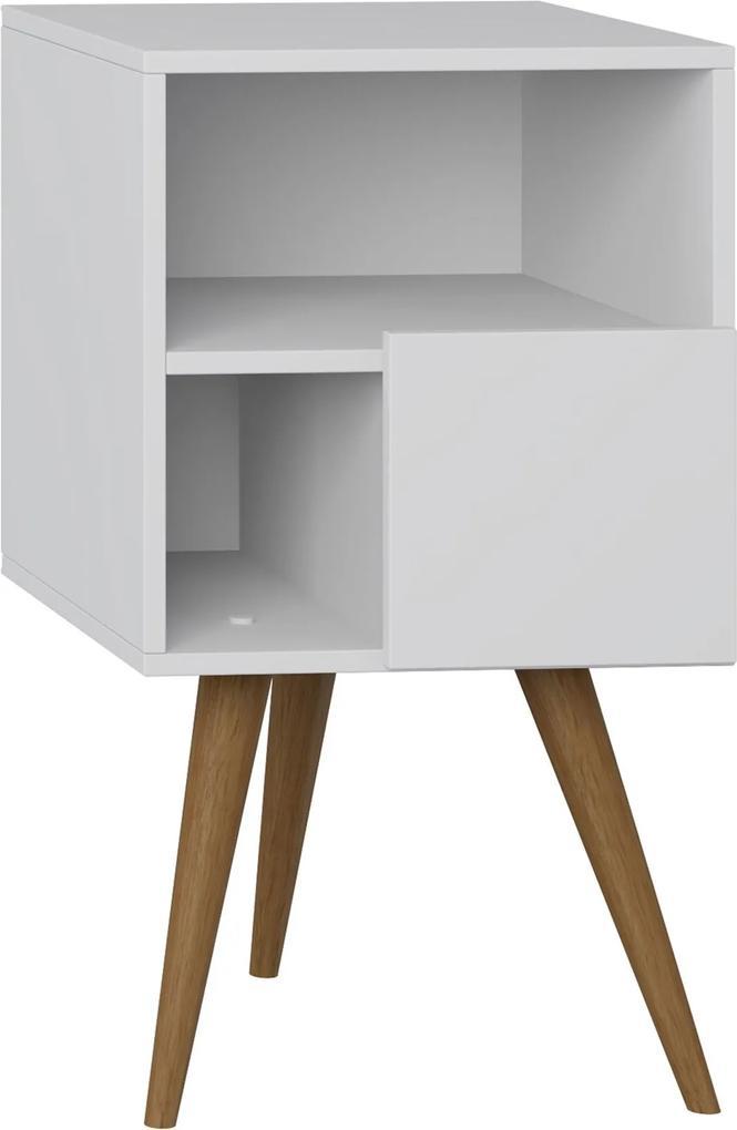 Mesa de Cabeceira Com Porta Branco Tx Be Mobiliário