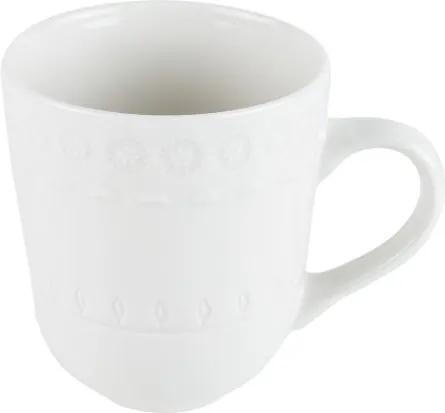 Caneca Porcelana Grace Branco 370ml 17580 Wolff