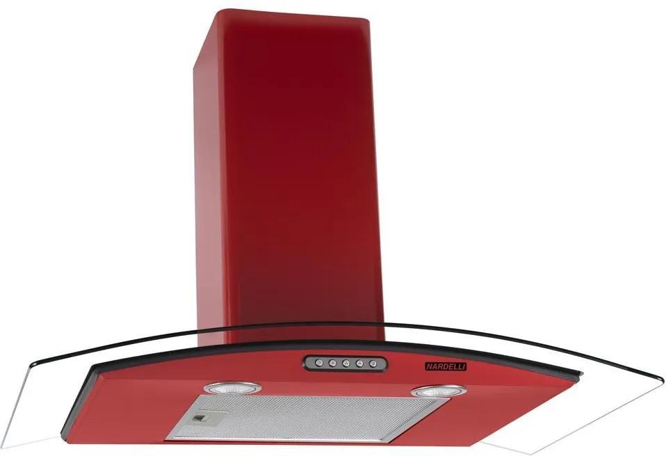 Coifa de Parede Vidro Curvo Duto Slim Red 80 cm 127v - Nardelli
