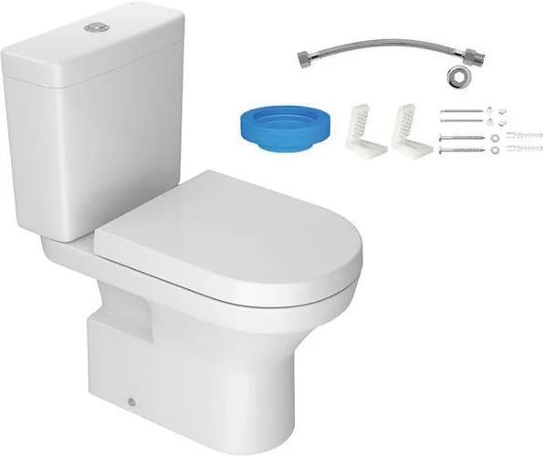 Kit Bacia com Caixa Acoplada e Assento Level Branco + Conjunto de Fixação Flexível e Anel de Vedação - KP.480.17 - Deca - Deca