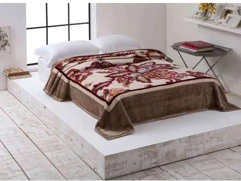 Cobertor Casal Corttex -Microfibra Home Design Kalya Marrom