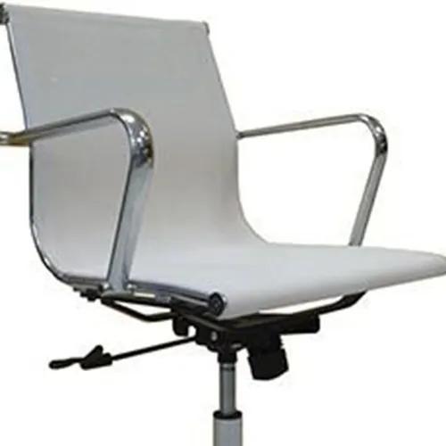 Cadeira Giratória North para Escritório em Metal e Polipropileno Branc