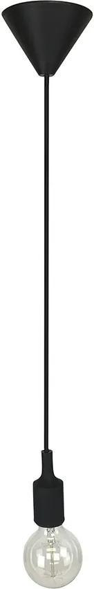 Pendente Cordão Regulável Preto E27 - Delis - DS2306
