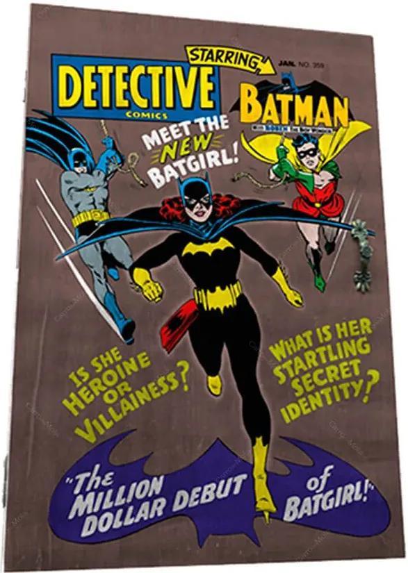 Porta-Chaves 6 Ganchos DC Comics Batgirl Marrom em Madeira - Urban