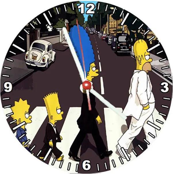 Relógio Decorativo Simpsons Abbey Road