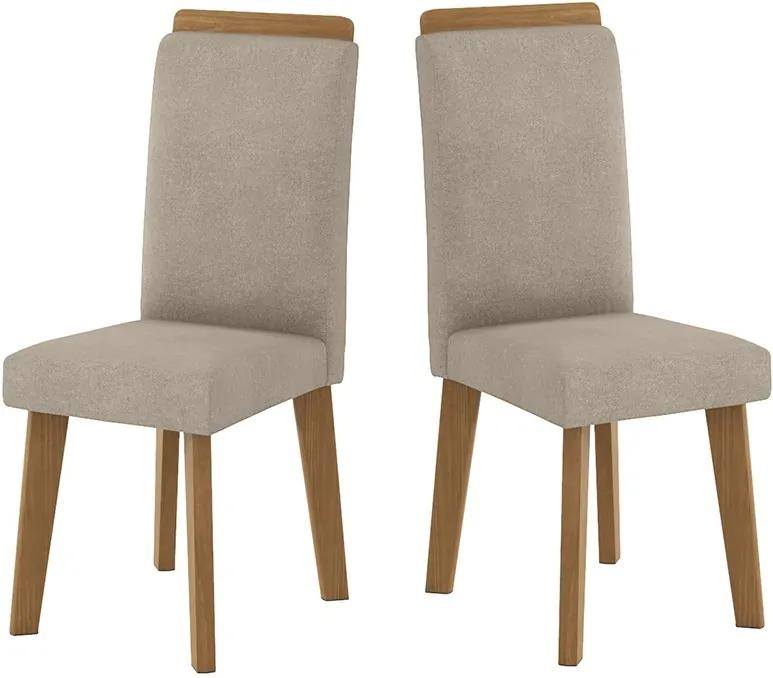 Kit com 2 Cadeiras Diamante Pena Caramelo - RV Móveis