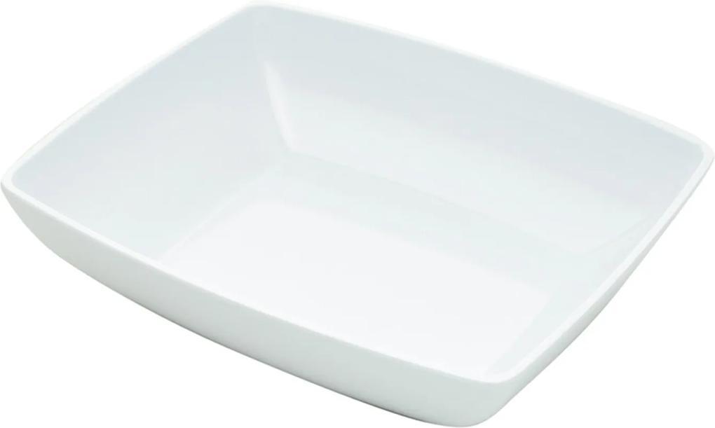 Saladeira Bon Gourmet melamina 33x28x9cm Branca
