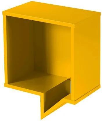 Prateleira Cartoon Quadrada Laca Amarelo - 27222 Sun House
