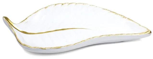 Porta bijoux folha dourada