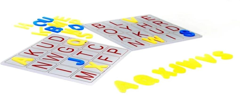 Alfabeto Bingo De Letras 196 Peças Plástico Eva Carlu - Carlu