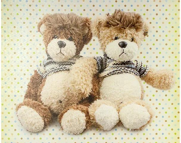 Tela Impressa Casal de Ursos