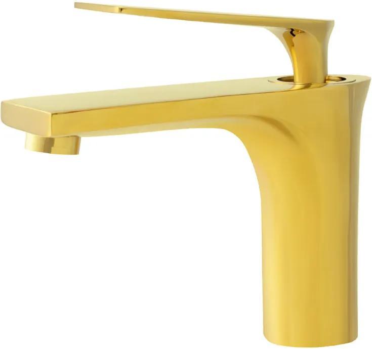 Torneira Monocomando Baixa para Banheiro (Michigan Dourada)