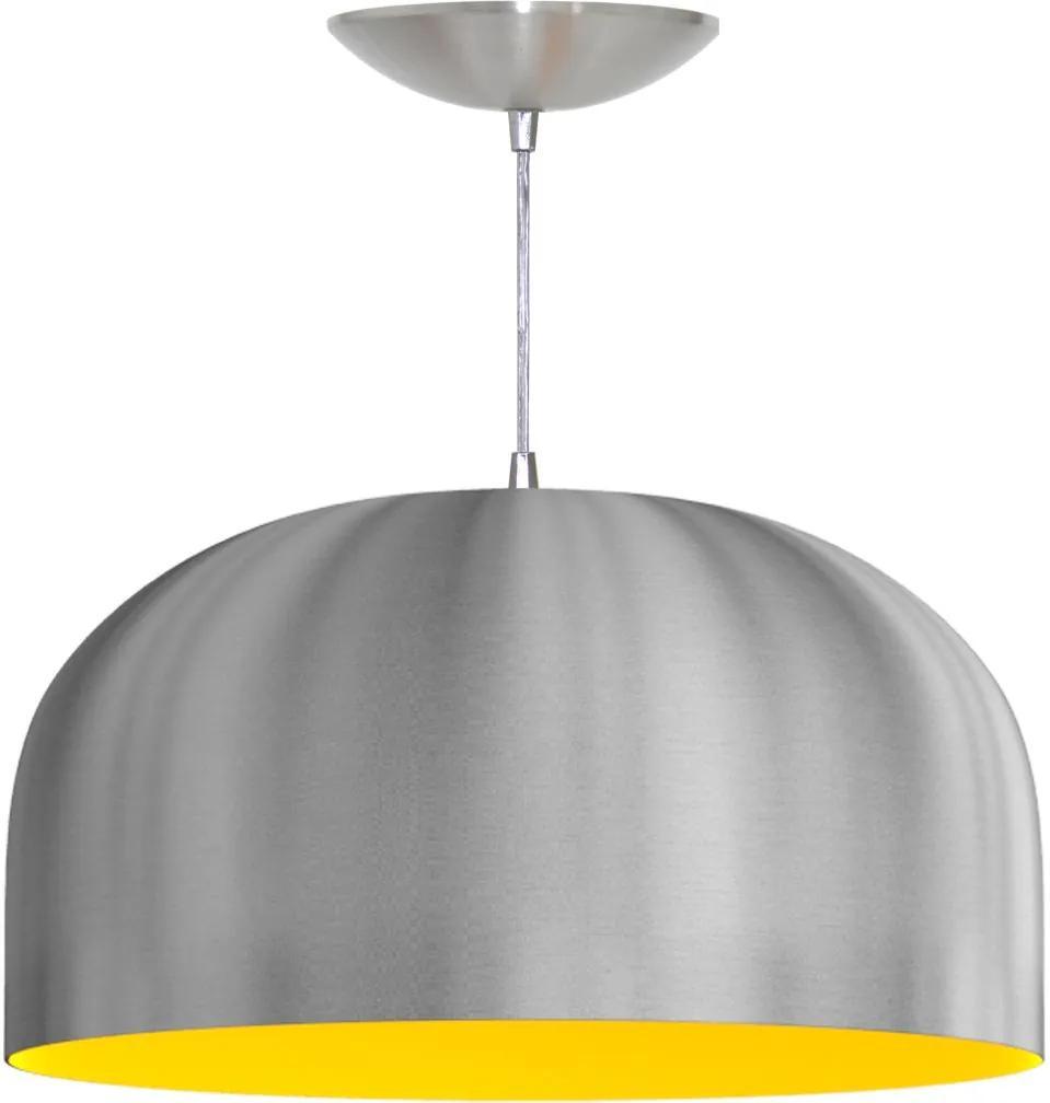 Pendente Meia Esfera de 55 Cm (escovado / Amarelo)