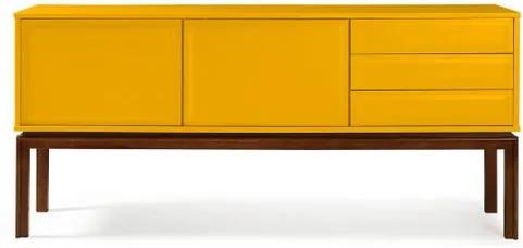 Buffet Quartzo Cor Cacau Com Amarelo - 29720 Sun House