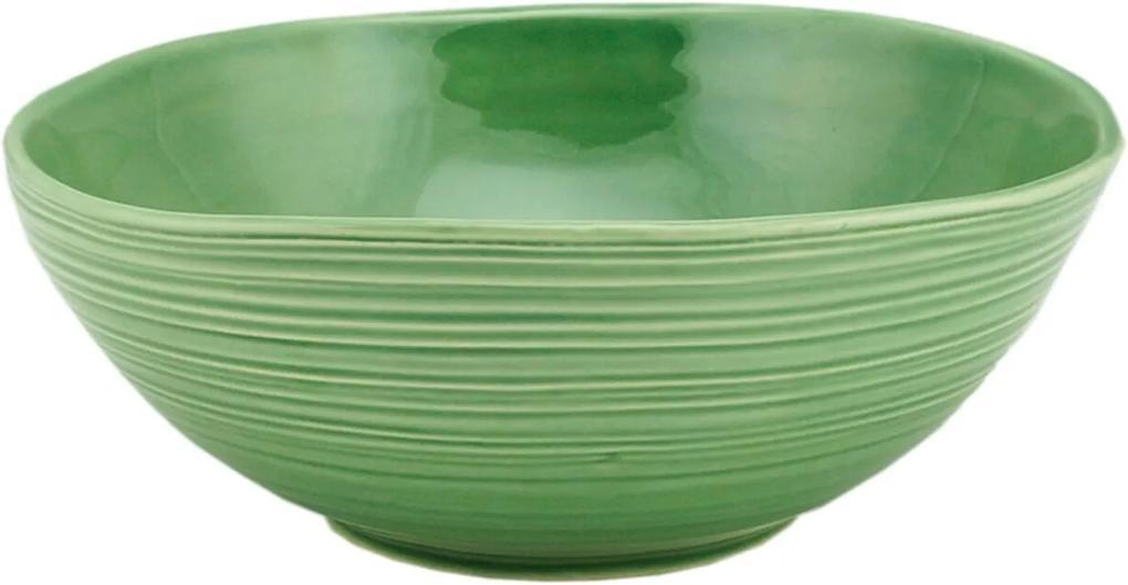 Bowl Bon Gourmet cerâmica Ocean 23x9cm Verde