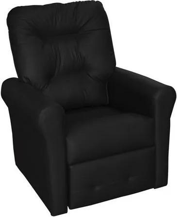 Poltrona do papai reclinável Clio -  Preto corino