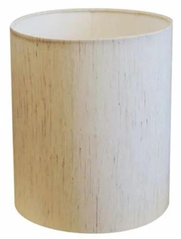 Cúpula Abajur Cilíndrica Cp-8001 Ø13x15cm Linho Bege