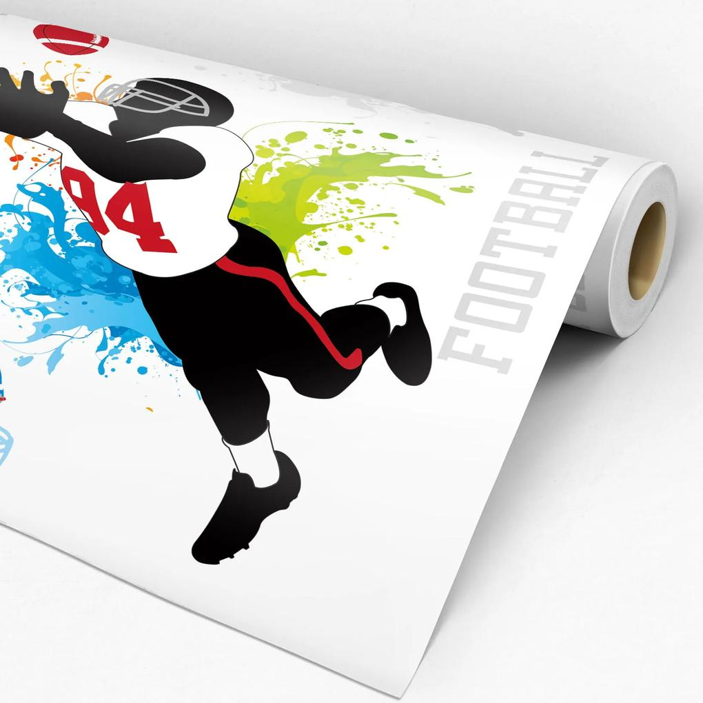 Papel de parede adesivo casual football