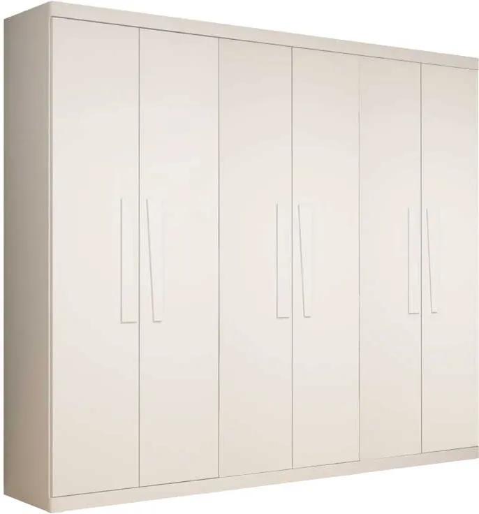 Guarda Roupa Casal 6 Portas Infinity Gelius Branco
