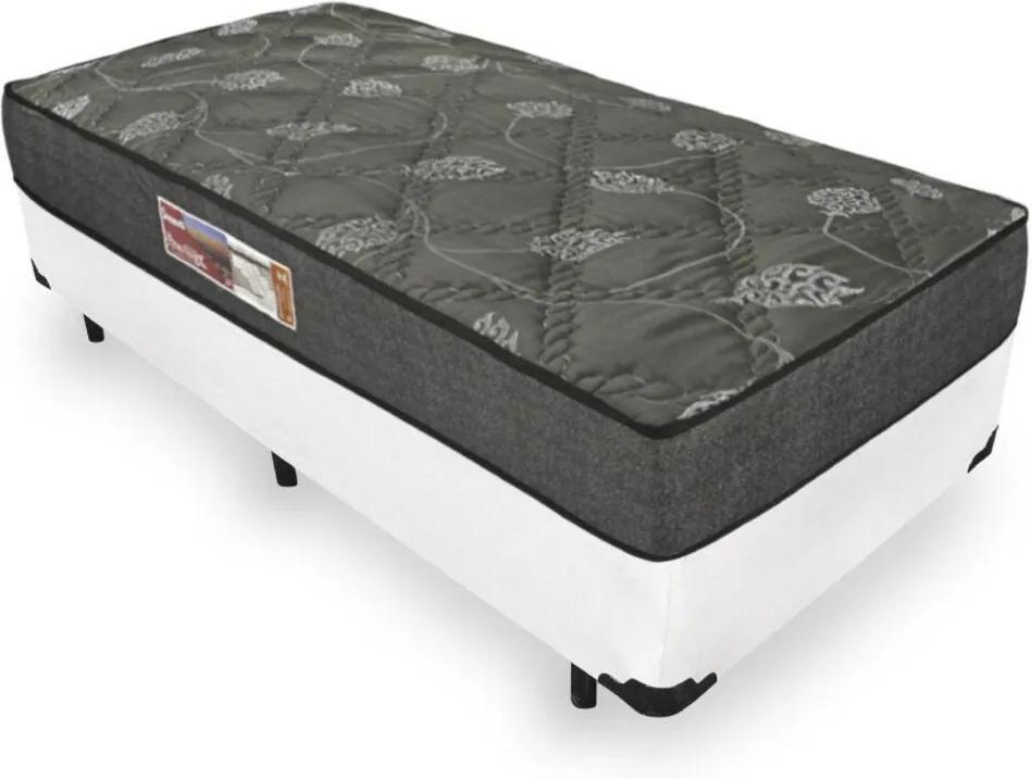 Cama Box Solteiro + Colchão De Espuma D23 - Prorelax - Sienna 88x188x49cm Branco