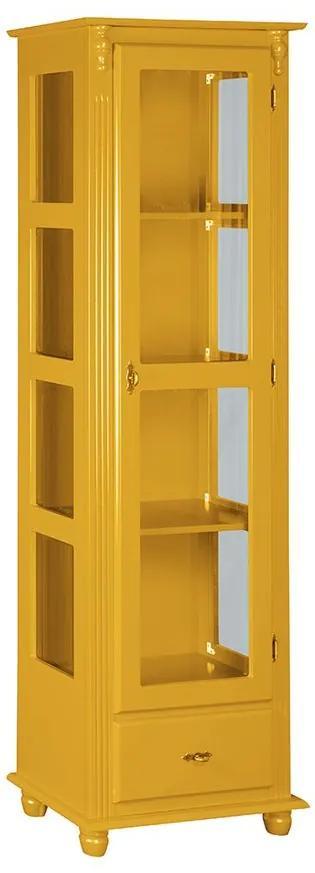 Cristaleira com Porta e Lateral de Vidro com Gaveta - Wood Prime MY 907425