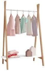 Módulo Closet Arara Expositor 1 Prateleira Style D08 Branco/Amadeirado